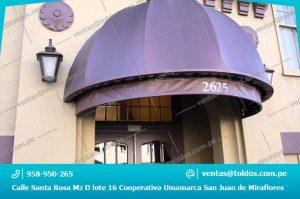 Toldos Media Luna para Hoteles en Lima