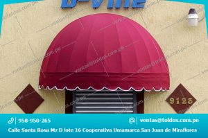 Toldos Media Luna para Restaurantes en Lima